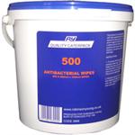 FSMISC CATERPACK 500 ANTI BACTERIAL WIPESPK500