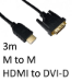 TARGET HDMI 1.4 (M) to DVI-D (M) 3m Black OEM Display Cable
