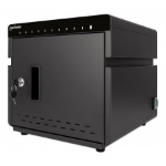 Manhattan Charging Cabinet 10 Unit (180W), Desktop, x10 USB-C ports, Power Delivery 3A/18W per port - 180W total, Suitable for tablets/phones, Spacious bays 345x22x235mm, Device charging cables not included, Silent Ventilation, UK 3-pin Plug, Three Year W