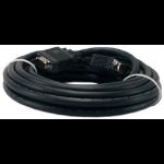"""QVS CC388B-25 VGA cable 300"""" (7.62 m) VGA (D-Sub) Black"""