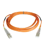 "Tripp Lite N320-04M fiber optic cable 157.5"" (4 m) OFNR 2x LC Orange,Grey"