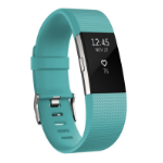 Fitbit Charge 2 Wristband activity tracker OLED Wireless Black,Blue