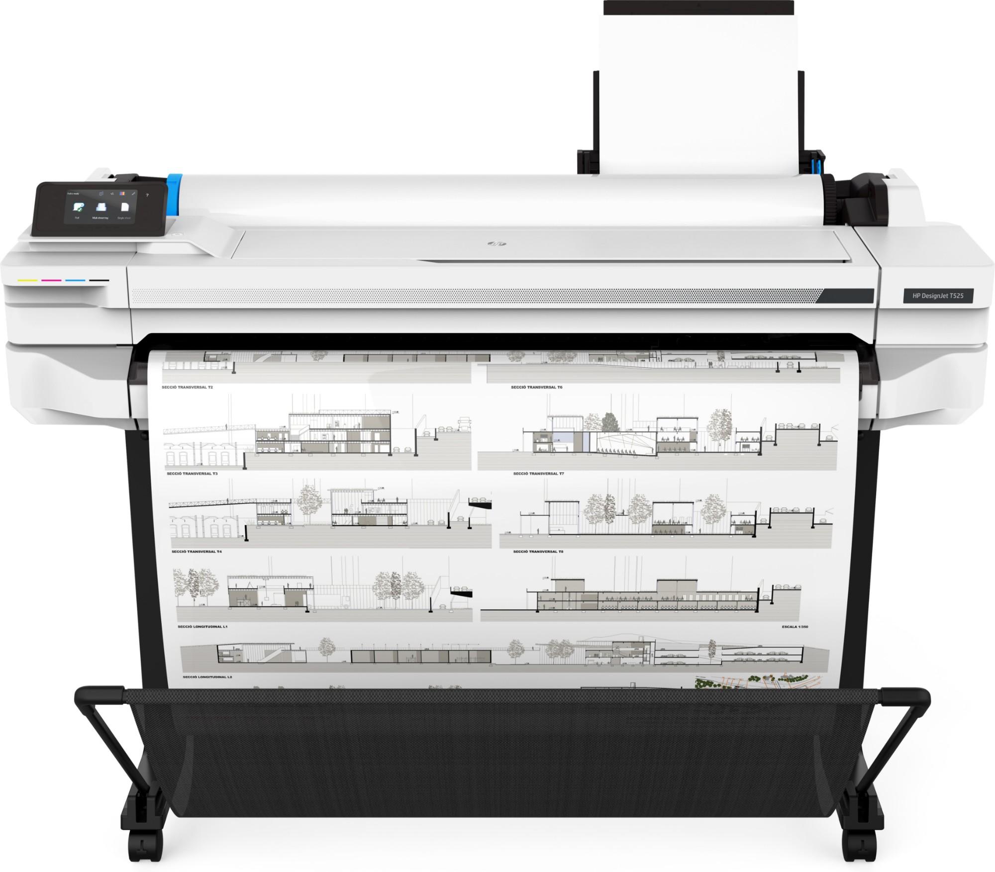 HP Designjet T525 large format printer Thermal inkjet Colour 2400 x 1200 DPI Ethernet LAN Wi-Fi