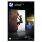 HP Advanced Glossy papel fotográfico Blanco Brillo