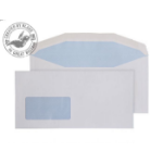 Blake Purely Everyday White Window Gummed Mailer DL+ 114X235mm 90gsm (Pack 1000)