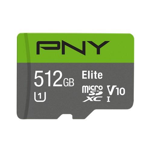PNY Elite memory card 512 GB MicroSDXC Class 10 UHS-I