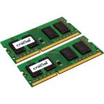 Crucial 2x 2GB, DDR3, 1600MHz, 204pin memory module 4 GB