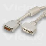 Videk DVI M to DVI F A+D Monitor Extension Cable 2m DVI cable