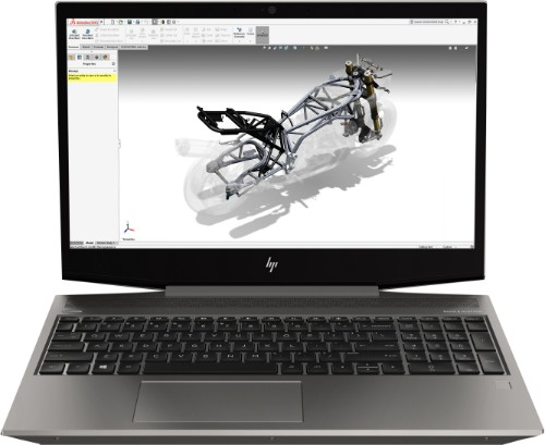 HP ZBook 15v G5 Mobile workstation Silver 39.6 cm (15.6