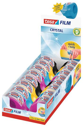 TESA film mini dispenser Plus 1 roll Crystal 19mmx10m PK16