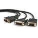 StarTech.com 6 ft DVI-I Male to DVI-D Male and HD15 VGA Male Video Splitter Cable