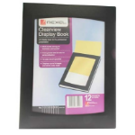 Rexel Clearview A4 Display Book 12-Pocket Black