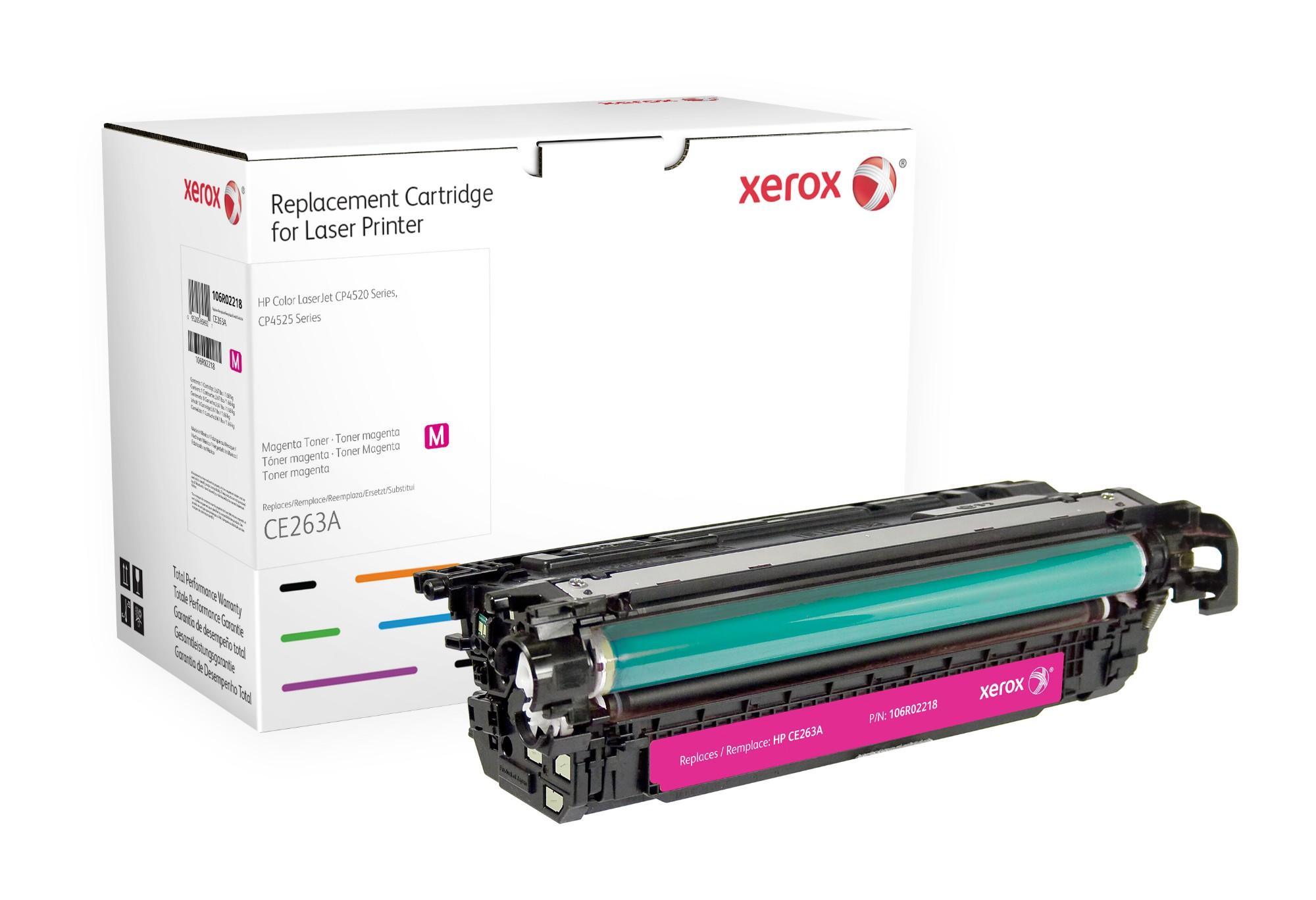 Xerox Cartucho de tóner magenta. Equivalente a HP CE263A. Compatible con HP Colour LaserJet CM4540 MFP, Colour LaserJet CP4025, Colour LaserJet CP4525