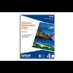 """Epson Premium Presentation Paper Matte, Double-sided - Letter - 8.5"""" x 11"""" - 50 Sheets papel fotográfico dir"""