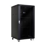 LinkBasic 22U 600mm Depth Server Rack Glass Door with 2x240v Fans and 8-Port 10A PDU