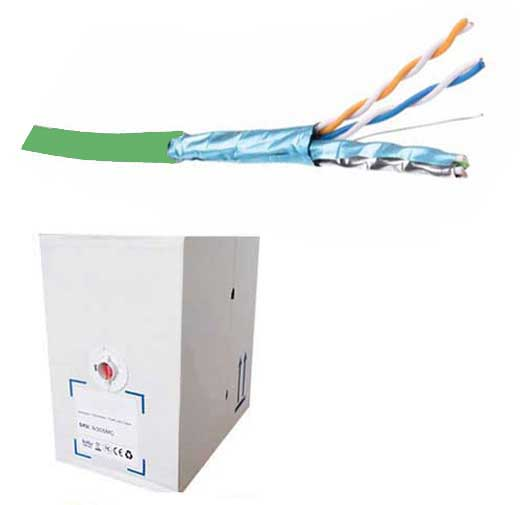 FDL CAT.6a S-FTP STRANDED PATCH CABLE LSZH (305M BOX) - GREEN