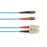 """Black Box FOLZHM4-003M-STSC-BL fiber optic cable 118.1"""" (3 m) LSZH OM4 ST SC Blue"""