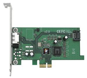 eSATA II Pci-e I/e - 2-port (1 Internal, 1 External) SATA II (eSATA) Pci-e X1 Card Rohs