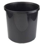Avery 19BLK Round Polypropylene (PP) Black waste basket