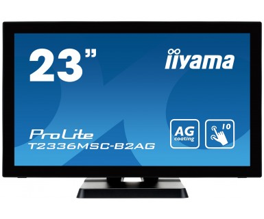 "iiyama ProLite T2336MSC-B2AG touch screen monitor 58.4 cm (23"") 1920 x 1080 pixels Black Multi-touch"