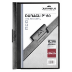 Durable Duraclip 60 report cover Black, Transparent PVC