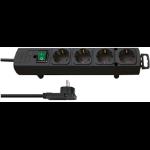 Brennenstuhl 1153100100 power extension 2 m 4 AC outlet(s) Indoor Black