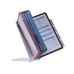 Durable VARIO Desk Portrait A4 document display carousel