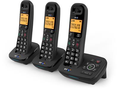 British Telecom BT 1700 Nuisance Call Blocker Trio DECT telephone Caller ID Black