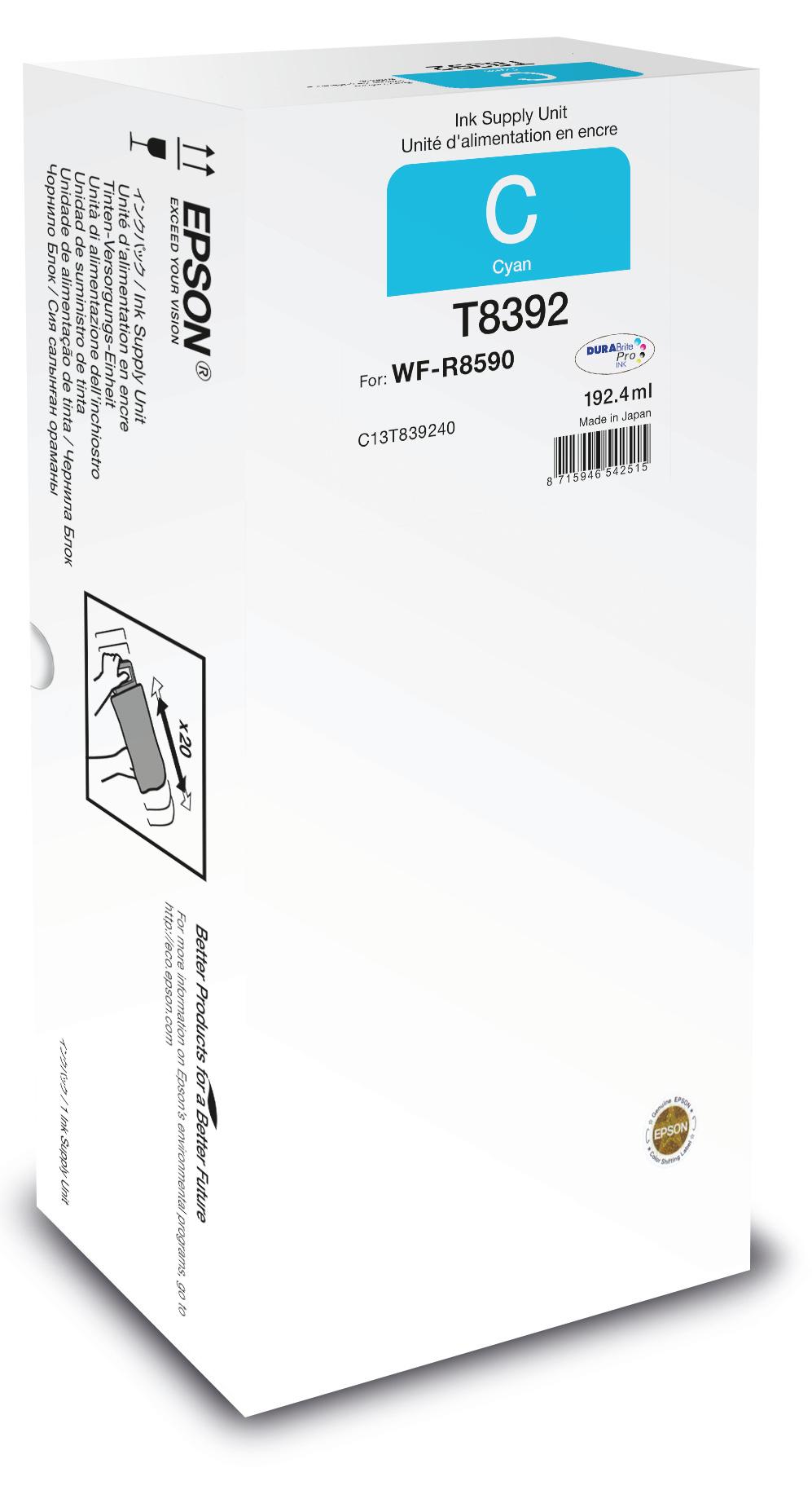 Epson Unidad de suministro de tinta T8392 cyan XL