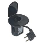 C2G Power Desk Grommet Type E Black socket-outlet