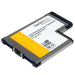 StarTech.com 2 Port Flush Mount ExpressCard 54mm SuperSpeed USB 3.0 Card Adapter with UASP Support