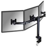 "Newstar Tilt/Turn/Rotate Triple Desk Mount (clamp) for three 10-21"" Monitor Screens, Height Adjustable - Black"