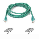 """Belkin CAT6 Snagless Patch Cable 1ft. Green networking cable 11.8"""" (0.3 m)"""