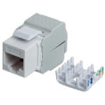 Intellinet Keystone Jack, Cat6, UTP, Toolless, White