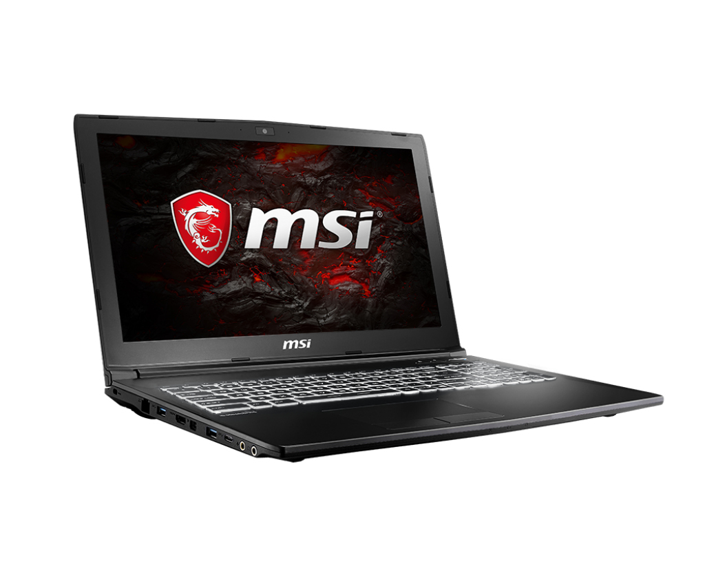 "MSI Gaming GL62M 7RDX-1693UK 2.8GHz i7-7700HQ 15.6"" 1920 x 1080pixels Black Notebook"