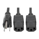"""Tripp Lite P006-006-2 power cable Black 72"""" (1.83 m) C13 coupler"""