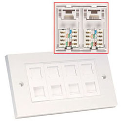 Lindy 60587 wall plate/switch cover White