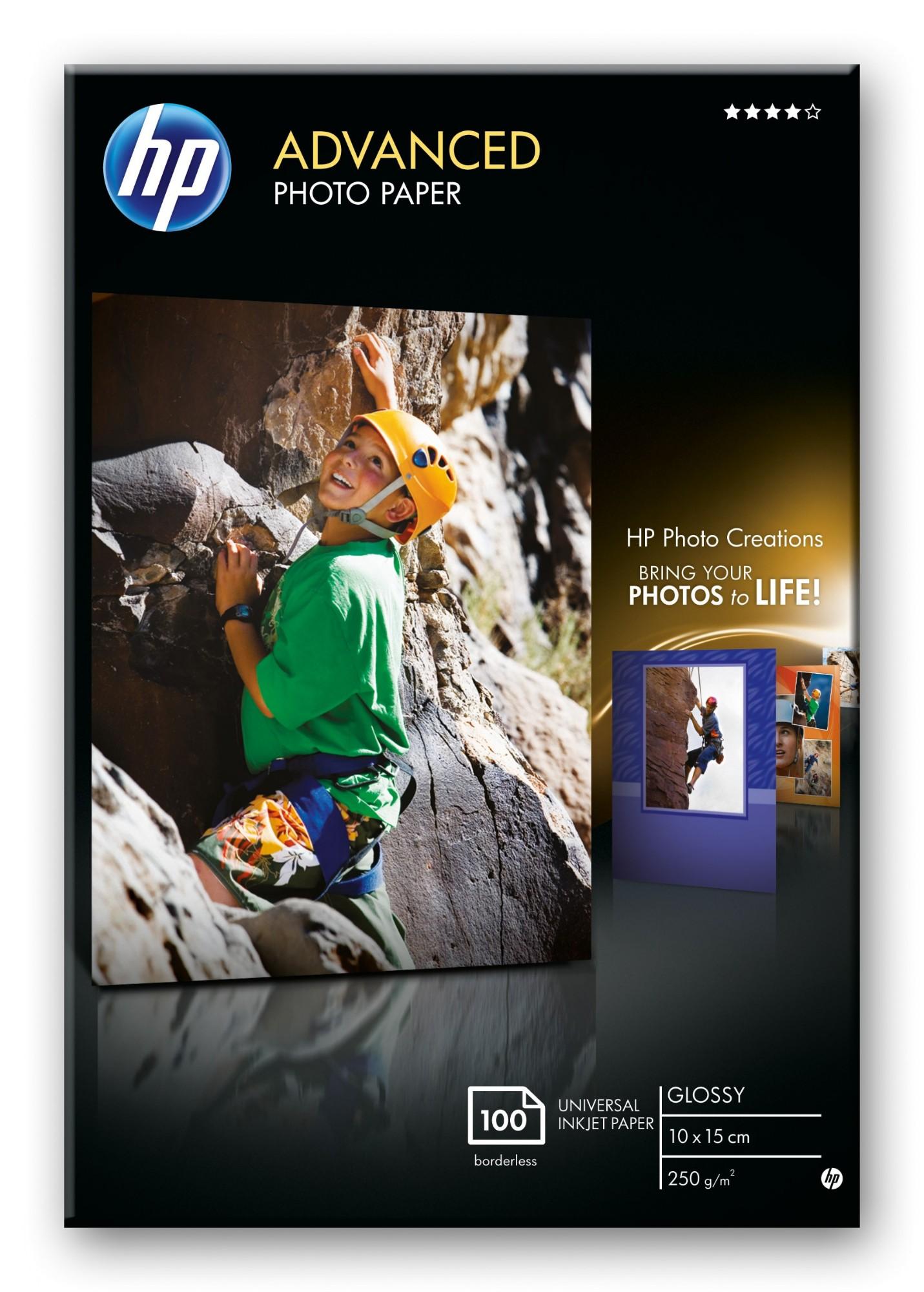 HP Q8692A papel fotográfico Negro, Azul, Blanco Brillo