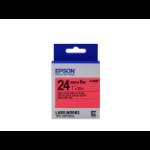 Epson LK-6RBP Label Etikette Schwarz auf rot