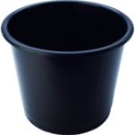 Deflecto CP025YTBLK waste container Black Polypropylene (PP)