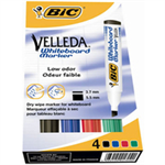 BIC Velleda Whiteboard Marker 1701 Bullet tip Black,Blue,Green,Red 4pc(s) marker
