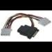 Microconnect SATA 15M-15F+2x4pinF