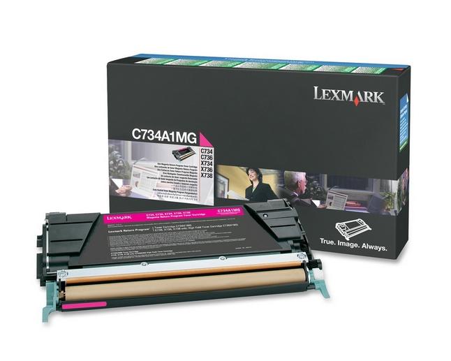 Lexmark C734A1MG cartucho de tóner Original Magenta 1 pieza(s)