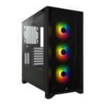 Corsair iCUE 4000X RGB Midi Tower Black CC-9011204-WW