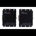 Gefen GTB-UHD2IRS-ELRPOL-BLK AV transmitter & receiver Black AV extender