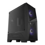 MSI MAG FORGE 100M Mid-Tower RGB Gaming Case - Black Tempered Glass