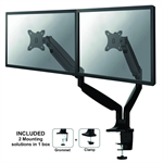 "Newstar NM-D750DBLACK 32"" Clamp/Bolt-through Black flat panel desk mount"