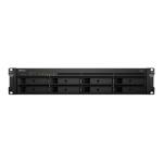 Synology RackStation RS1219+ 64TB (WD RED PRO) 8 bay - Intel Atom C2538 quad-core 2.4GHz - 2 GB DDR3L-1600 No NAS Rack (2U) Ethernet LAN Black