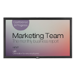 "LG 22SM3B signage display 54.6 cm (21.5"") LCD Full HD Digital signage flat panel Black"