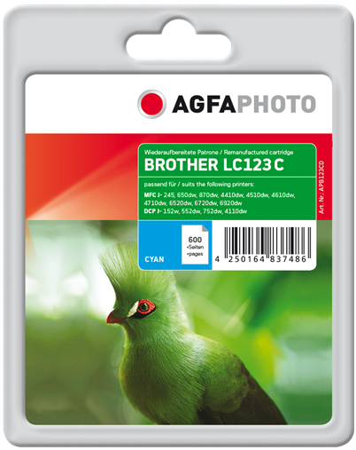 AgfaPhoto APB123CD 600pages Cyan ink cartridge